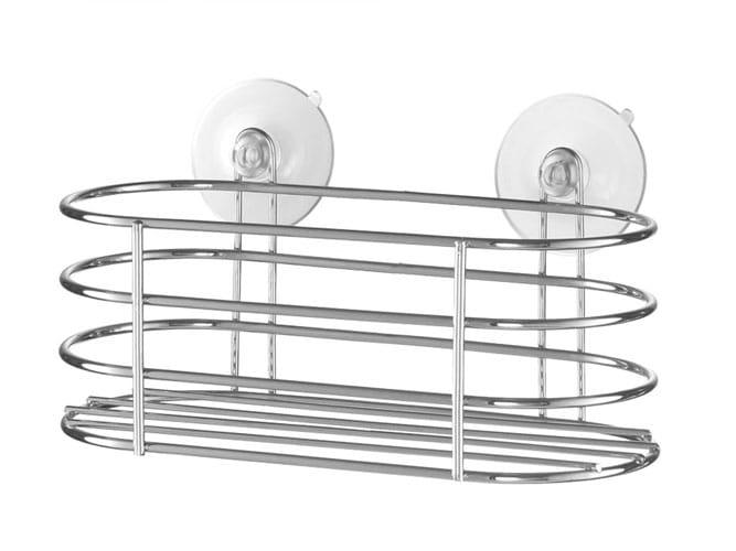 Półka łazienkowa Koszyk Metalowy Na Przyssawki Chrom 04119 Bisk