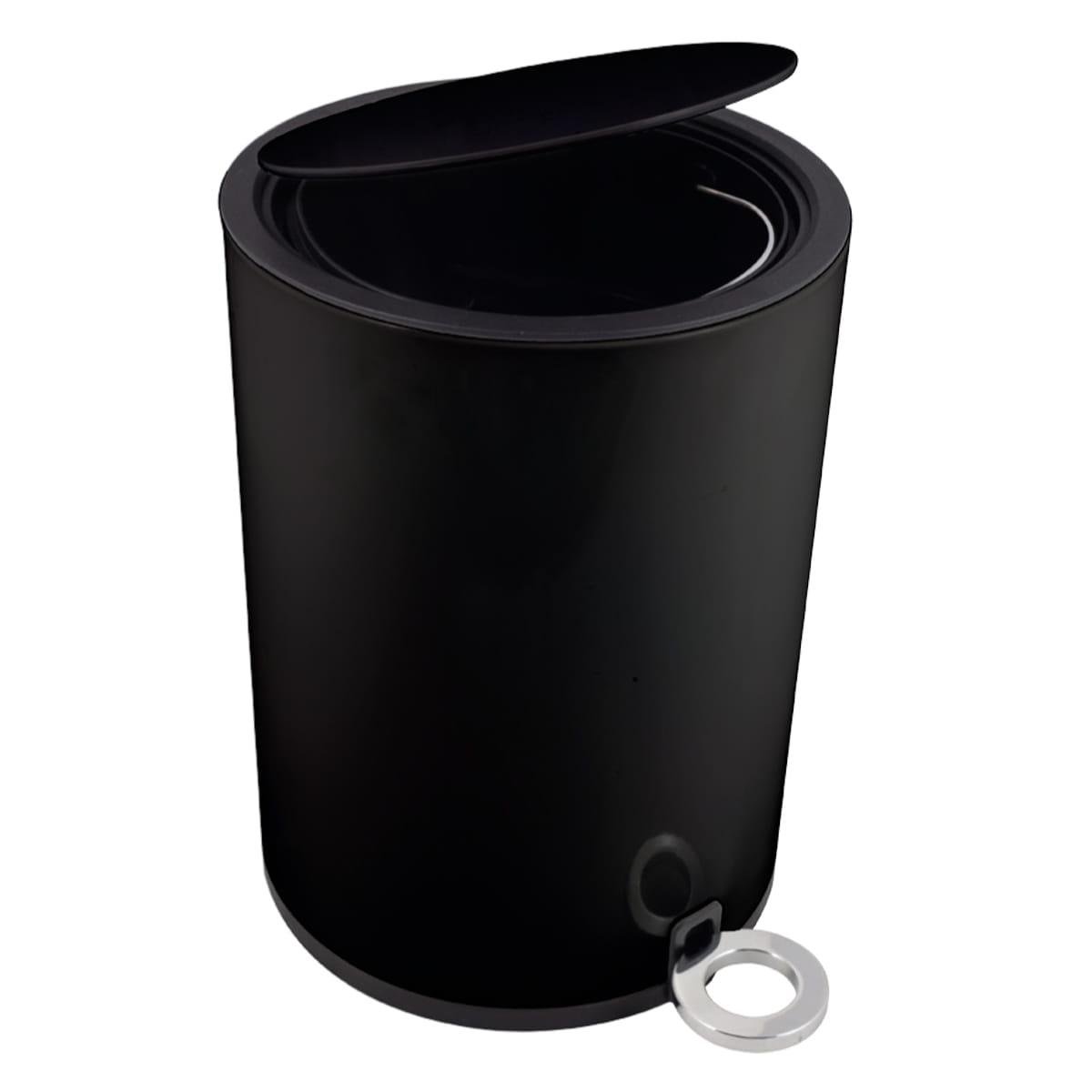 Kosz Na śmieci 3l Wolnoopadający Czarny Poppis Wyposażenie